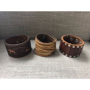 Jewelry - Custom Leather Cuffs (All 3 for $15)